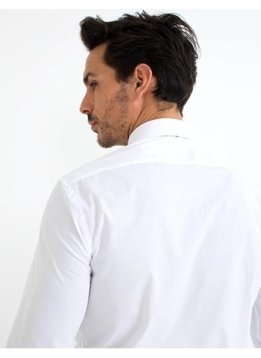Pierre Cardin Klasik Gömlek Beyaz